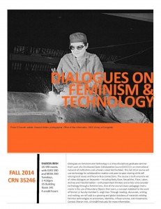 Poster for Fall 2014 class
