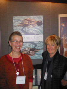 Sharon Irish and Suzanne Lacy at Minnesota Press booth
