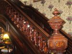 Jacob Henry Mansion, Joliet, newel post
