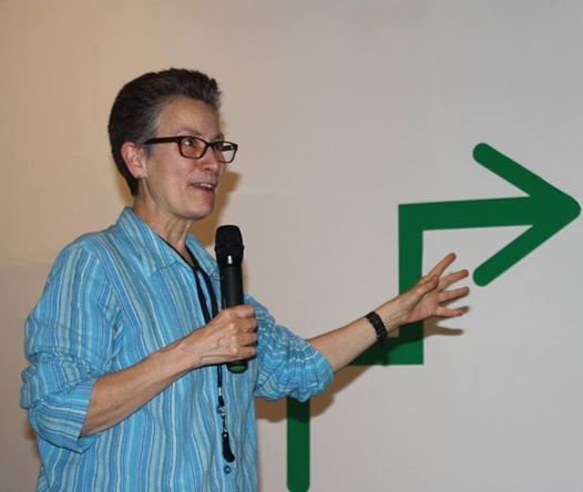 Sharon Irish giving a lecture