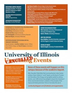 Poster of Events Cancelled at UIUC, September 5, 2014
